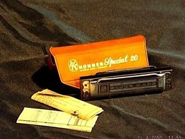 Harmonica (E Scale) with Case AA18 - 1016 Vintage image 2