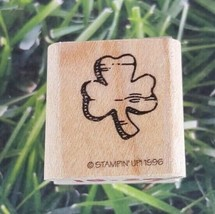 Stampin Up! Three Leaf Clover 1996 Rubber Stamp Wooden Mounted  - $8.41
