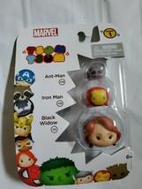 New Marvel Tsum Tsum 3 Pack Series 1 Ant Man Iron Man Black Widow Stack Figures - $11.87