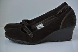 Merrell Petunia Womens Sz 9 Brown Suede Leather Wedge Mary Janes Shoes N... - $23.75