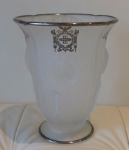 Antique Indiana Glass Sterling Overlay Vase Third Panel Sheriff's Jury New York - $129.00