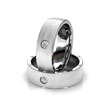 White Diamond Mens Wedding Band Gift For Him Promise Band In Solid 925 Silver - $199.99