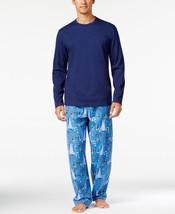 $70 Family PJs Men 2-Piece Long Sleeve Winter Elves Pajama Set, City Parad, M - $29.69