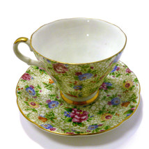 LEFTON CHINA Hand Painted Cup & Saucer Floral Design #2119 - $18.48