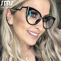 Ladies Optical Sexy Cat Eye Glasses Frames Women Brand Designer Eyeglasses Fashi image 2
