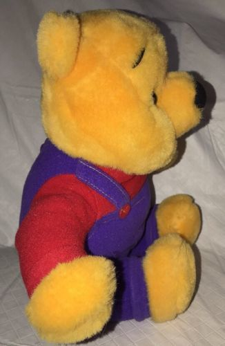 Winnie the Pooh Toy Hug N Wiggle Talking Moving Disney Plush Stuffed Purple/Red