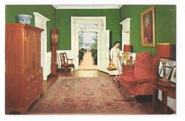 VA Williamsburg Colonial Berkeley Plantation Entrance Hall Vintage Postcard - $5.50