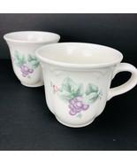 Pfaltzgraff Grapevine 8 oz Coffee Cup Mug Tea Cup Grapes Blossoms Leaves... - $24.74