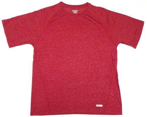 Men's Speedwick Tee Shirt Reebok Performance Training Short Sleeve T-Shirt Red