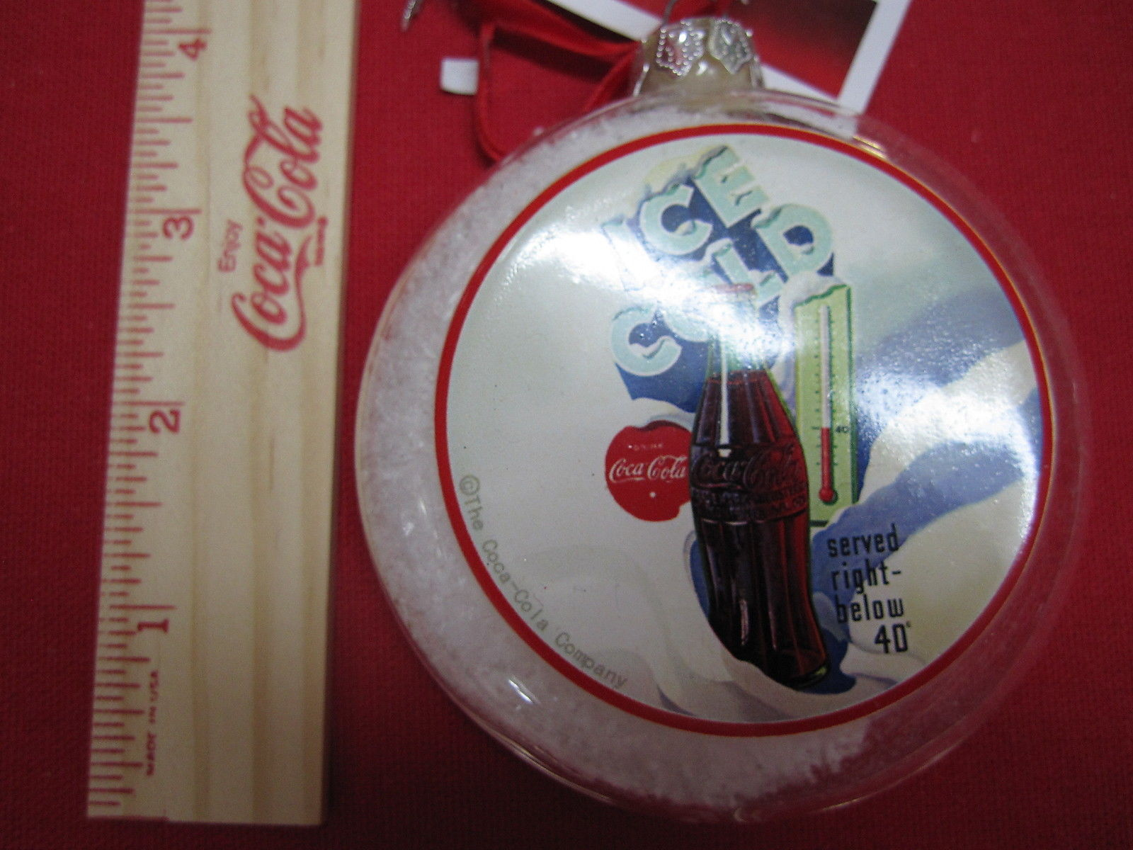 "Primary image for Coca-Cola Ornament ""Ice Cold"" Kurt Adler NWT"