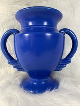 """Made in Japan Vase Urn Two Open Handles Blue Pottery Japanese 7 1/2"""" Vin... - $74.24"""