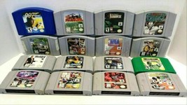 Nintendo 64 N64 Video Game Lot Of 16 Turok WCW WWF 007 Bond - $99.99