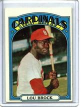 1972 Topps Baseball Card # 200 Lou Brock   ST Louis - $4.00