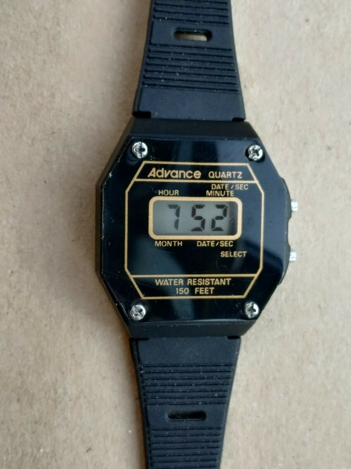 Primary image for Advance women's or youth vintage digital black quartz watch