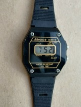 Advance women's or youth vintage digital black quartz watch - $6.79