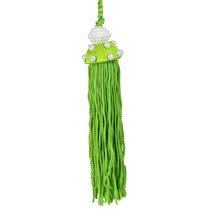 "Kurt Adler 4.25"" Green Tassel with Faux Pearls Christmas Ornament - $4.69"