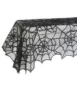 Spider Web Black Lace Tablecloth For Halloween Party Decoration Horror D... - £7.55 GBP