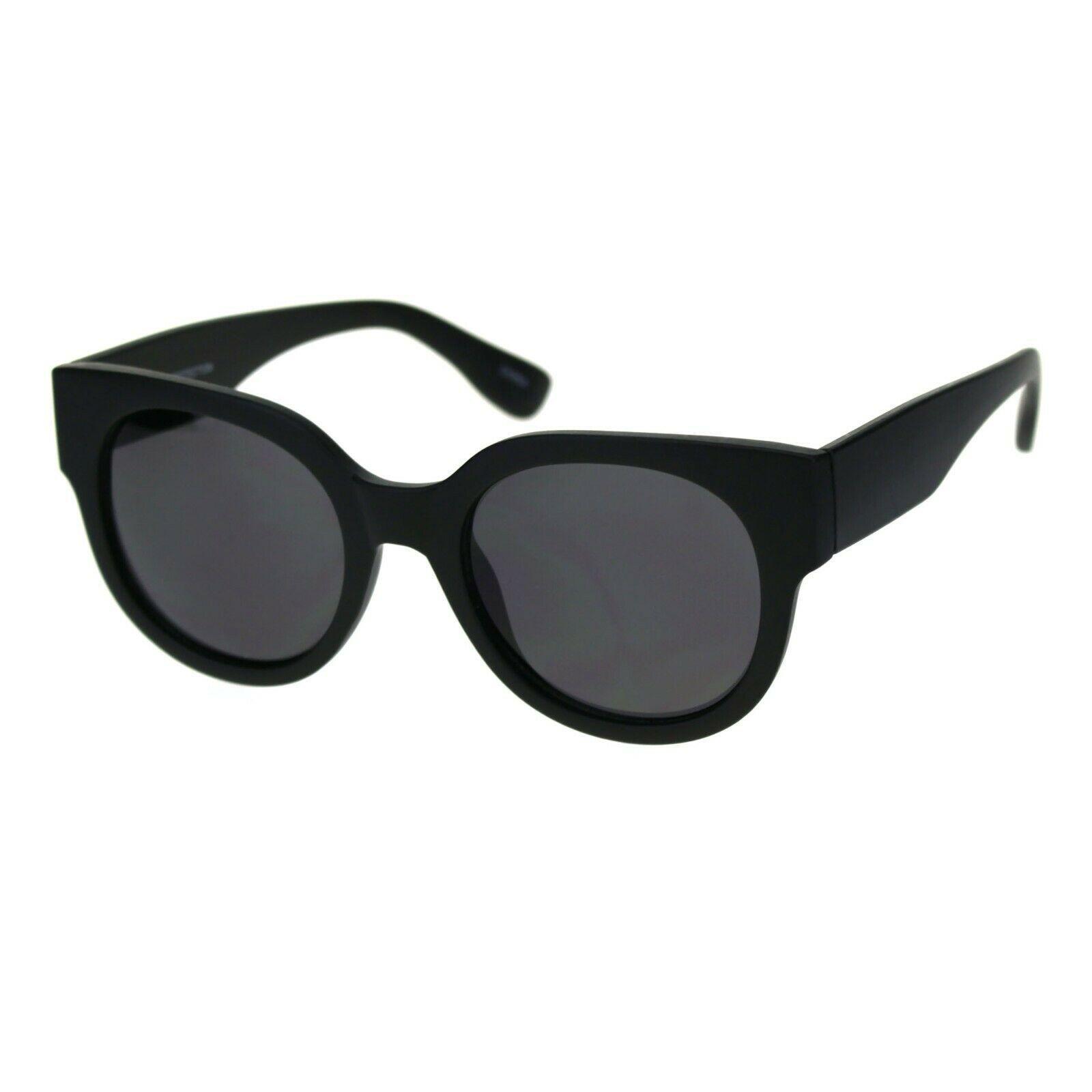 Womens Round Horn Rim Sunglasses Trendy Retro Fashion Shades UV 400