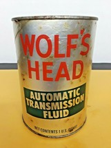 One Quart Wolf's Head Automatic Transmission Fluid Vintage CAn FULL - $14.85