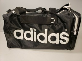 Adidas Duffel/Gym Bag 100% Nylon Black & White Excellent condition B106 - $25.00