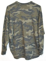 Express One Eleven Women's Faded Camo Crew Neck Front Pocket Sweatshirt Size XS image 2