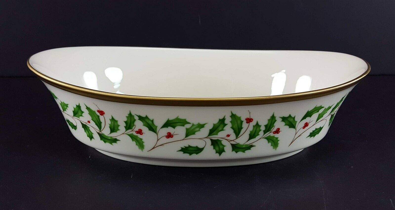 """LENOX China Holiday Dimension 10-1/4"""" Oval Vegetable Bowl Dinnerware image 2"""