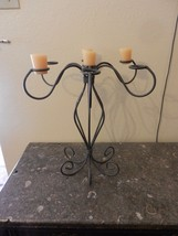 Vintage Homco Metal Tabletop Candle Holder Holds 7 Candles Brown tone color - $92.81