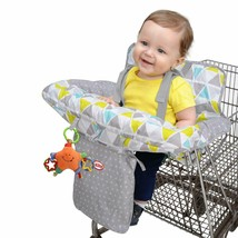 Nuby Baby Shopping Cart Cover and High Chair Cover 2 in 1 Geometric Tria... - $32.99