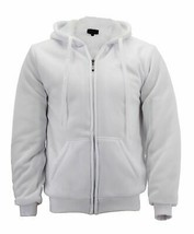 Men's Athletic Soft Sherpa Lined Fleece Hoodie Sweater Jacket w/ Defect 2XL