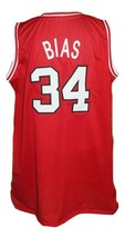Len Bias #34 College Basketball Jersey Sewn Red Any Size image 2