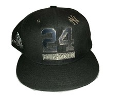 NY Yankees Gary Sanchez #24 El Kraken Adult Black Adjustable Baseball Cap - $29.69