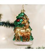 OLD WORLD CHRISTMAS DEER FAMILY GLASS CHRISTMAS ORNAMENT 12406 - $22.88