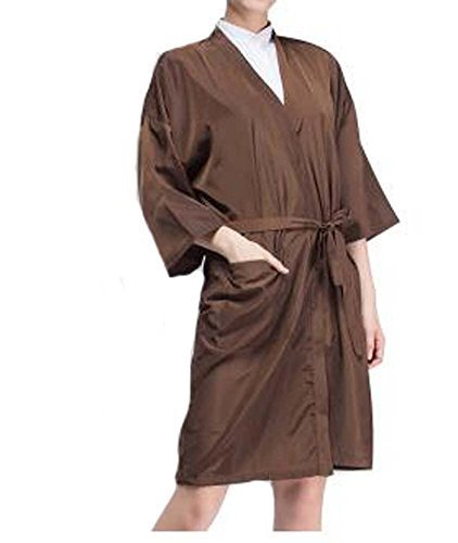 Salon Client Gown Upscale Satin Kimono Robes Beauty Hair Salon Smock for Clients