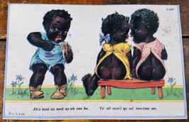 Black Americana Postcard Card Ahs Bout As Mad As I Can Be Cheating on Bo... - $8.96