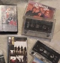 13 Vintage Cassette Tapes Elvis Alabama Sawyer Brown Hootie & The Blowfi... - $12.99