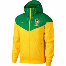 Brazil CBF Windbreaker Jacket 2018 Nike Licensed Green Yellow Size Men's XL - $79.76