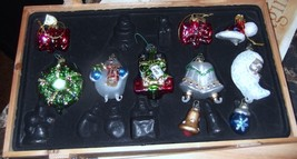 Thomas Pacconi Classics 10 Glass Christmas Ornaments In Crate  - $14.00