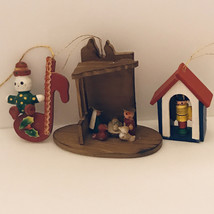 Vintage wood Christmas ornaments - $12.00
