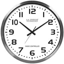 La Crosse Technology 404-1220 20 Brushed Aluminum Atomic Wall Clock - $93.83