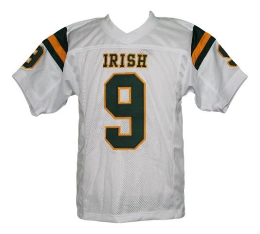 Lebron james  9 irish high school new men football jersey white 1