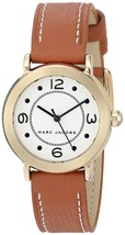 Marc Jacobs Women's MJ1576 Riley Brown Leather Watch - $133.47