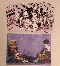 "Pack of 5 DALMATIAN PUPS Tree-Free Greeting cards with Envelopes 6"" x 4""... - $6.92"