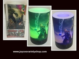 Flameless LED Candle Avengers Flicker Color Changing NIB AA Batteries - $9.99