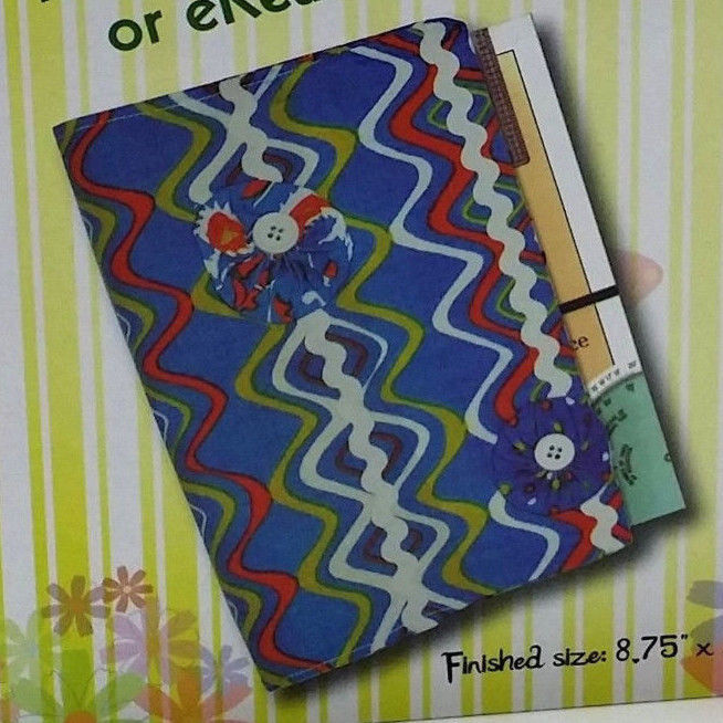 Book Cover Sewing Kits ~ Book cover ereader tablet craft kit singer sew fun make