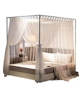 Simple 4 Corners Post Curtain Bed Canopy Bed Frame Canopies Net,Bedroom ... - $101.22+