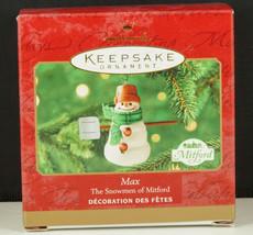 Hallmark Ornament Max The Snowmen Of Mitford 2000 New In Box - $13.95