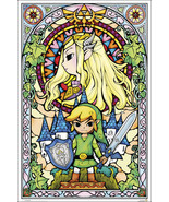 Zelda Stained Glass Nintendo New 24x36 Poster! - $11.15