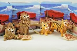 4 Pete Apsit Holy Herd NOAH'S ARK Animals Lili & Lulu Lion Tamie & Tumbl... - $52.73