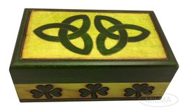 Celtic Trinity Knot Jewelry Box Polish Hand Crafted Wood Celtic Small Ke... - €17,40 EUR
