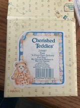 """Cherished Teddies 219487 Tony """"A First Class Delivery For You!"""" Mail Car... - $22.65"""